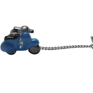 Blue Moped Scooter Tie Tack